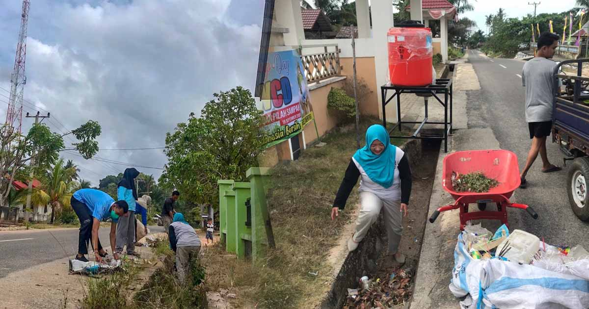 Pemdes Mentigi Gandeng Elemen Masyarakat pada World Clean Up Day 2020 (2)