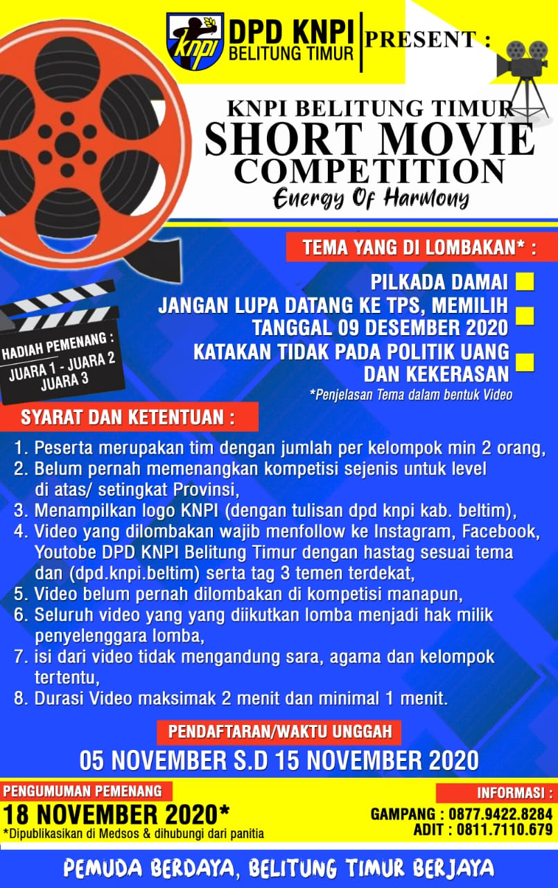 KNPI Belitung Timur Short Movie Competition (1)