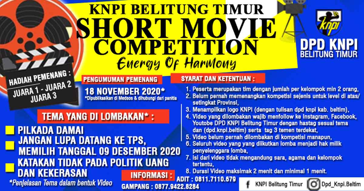 KNPI Belitung Timur Short Movie Competition (2)